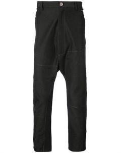 Taichi murakami джинсы с заниженным шаговым швом 46 черный Taichi murakami