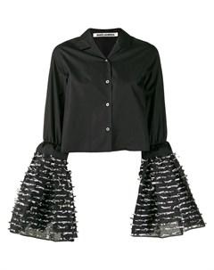 Jourden рубашка с расклешенными рукавами 40 черный Jourden
