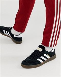 Черные кроссовки с резиновой подошвой handball spezial Черный Adidas originals