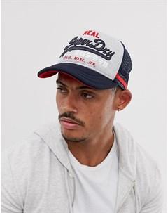 Серая кепка Premium good Superdry