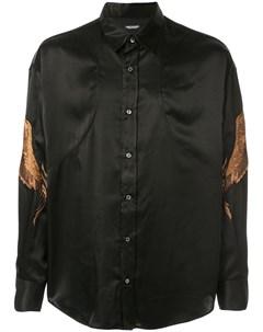 Christian dada атласная рубашка с вышивкой 46 черный Christian dada