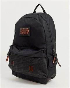 Черный рюкзак с тиснением на неопреновой вставке Superdry