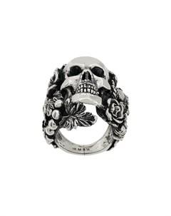 ugo cacciatori декорированное кольцо с черепом 9 металлик Ugo cacciatori