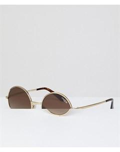 Круглые солнцезащитные очки Vogue Eyewear by gigi hadid Золотой