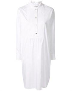 Atlantique ascoli платье рубашка с оборками белый Atlantique ascoli