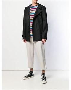 Comme des garcons shirt boys двубортное пальто l серый Comme des garçons shirt boys