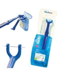 Floss holder with Floss держатель для зубной нити и зубная нить 50 м Fuchs