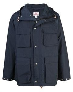 Battenwear парка с капюшоном l синий Battenwear