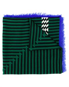 haider ackermann полосатый платок один размер зеленый Haider ackermann