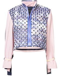 Martina spetlova куртка в стиле колор блок с плетеной отделкой 10 розовый Martina spetlova