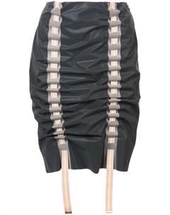 Martina spetlova присборенная юбка карандаш 10 серый Martina spetlova