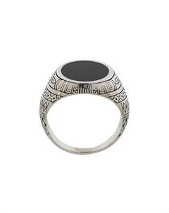 eleventy кольцо с гравированным узором 59 ик Eleventy