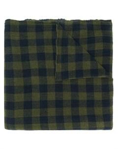 Apuntob овый шарф в клетку один размер зеленый Apuntob