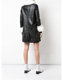 Charlotte simone куртка chloe со вставкой из искусственного меха l черный Charlotte simone