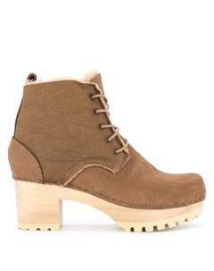 No 6 ботинки на каблуке со шнуровкой 36 коричневый No.6