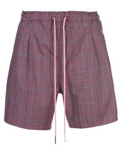 Rochambeau клетчатые спортивные шорты l розовый Rochambeau