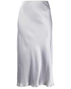 Bec bridge юбка миди с эффектом металлик 10 серый Bec & bridge