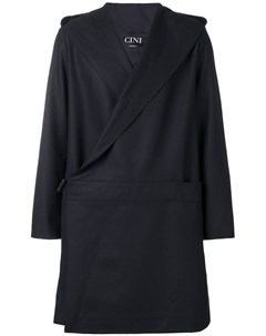 Cini пальто миди с капюшоном ii синий Cini