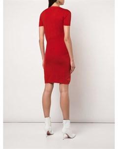 Alexandra golovanoff трикотажное платье с короткими рукавами s красный Alexandra golovanoff