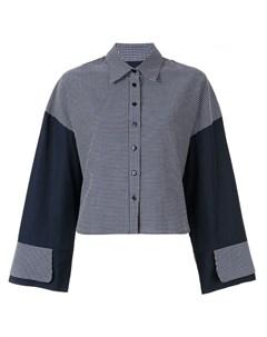 Jour ne рубашка в клетку с широкими рукавами 36 синий Jour/né