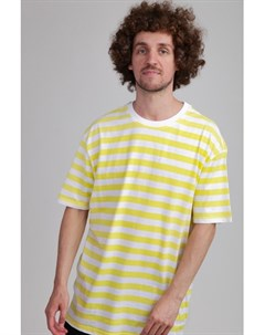 Футболка Oversized Yarn Dyed Bold Stripe Tee Yellow White M Urban classics