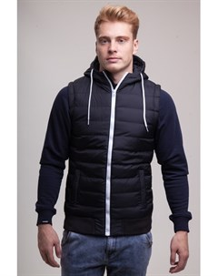 Жилет Small Bubble Hooded Vest Black White S Urban classics