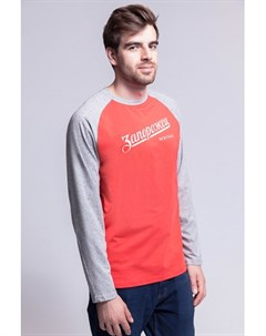 Лонгслив Лого 2 Tropical Red Grey Sperkale 2XL Запорожец