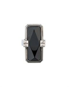 altruis by vinaya кольцо с граненым камнем m металлик Altruis by vinaya