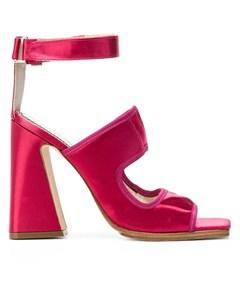 Nicole saldana босоножки на высоком массивном каблуке 39 розовый Nicole saldaña