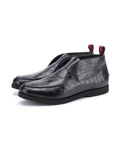 Ботинки из кожи каймана без шнуровки Kiton