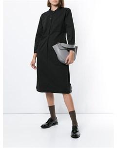Margaret howell платье трапеция на пуговицах m черный Margaret howell