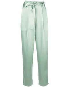 Sally lapointe брюки прямого кроя с завязками 4 зеленый Sally lapointe
