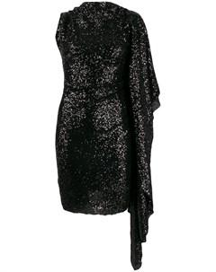 Paula knorr платье асимметричного кроя с пайетками m черный Paula knorr