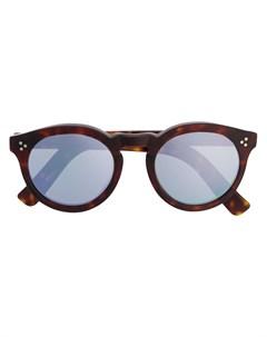 Зеркальные солнцезащитные очки в круглой оправе Illesteva