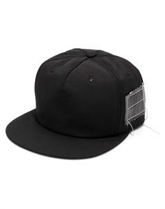 rick owens drkshdw кепка с прямым козырьком и заплаткой один размер черный Rick owens drkshdw