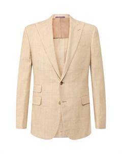 Пиджак из смеси шерсти и шелка Ralph lauren