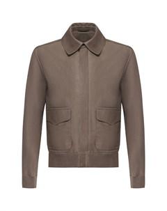 Кожаная куртка на молнии с отложным воротником Ralph lauren