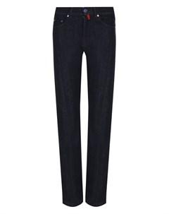 Однотонные джинсы прямого кроя Kiton