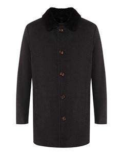 Шерстяное пальто с меховой подкладкой Gimo's