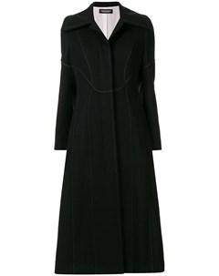 Christian dada длинное пальто с широкими лацканами 38 черный Christian dada