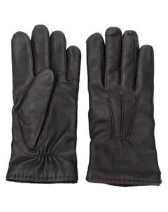кожаные перчатки Hackett