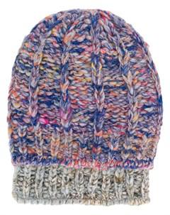 Super duper hats шапка бини фактурной вязки один размер серый Super duper hats