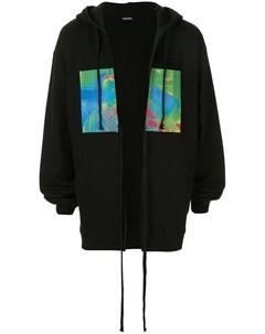 Куртка с капюшоном и графичным принтом Christian dada