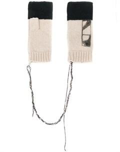 трикотажные перчатки митенки Federico curradi