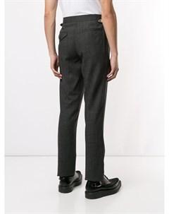 Toga virilis зауженные брюки с пряжкой на поясе 44 серый Toga virilis