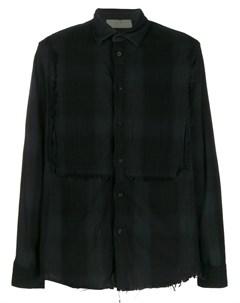 Di liborio клетчатая рубашка с бахромой 50 черный Di liborio