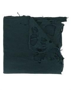 Kolor шарф оверсайз с эффектом потертости один размер синий Kolor