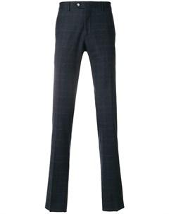 Biagio santaniello брюки кроя слим в клетку 52 синий Biagio santaniello