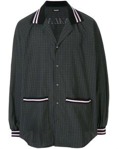 Christian dada клетчатая рубашка оверсайз 46 black Christian dada