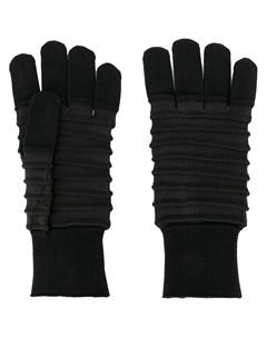 issey miyake men перчатки в рубчик один размер черный Issey miyake men